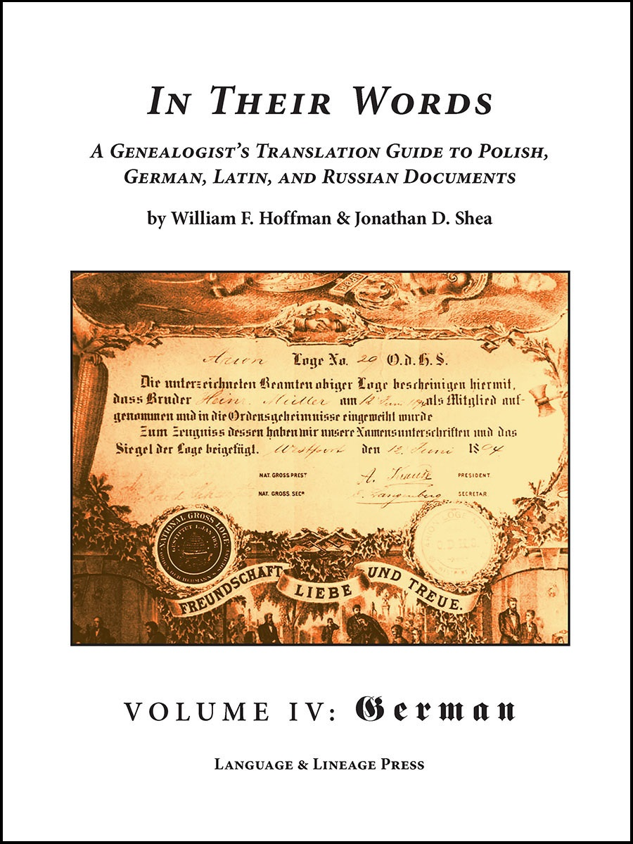 In Their Words Volume IV - German