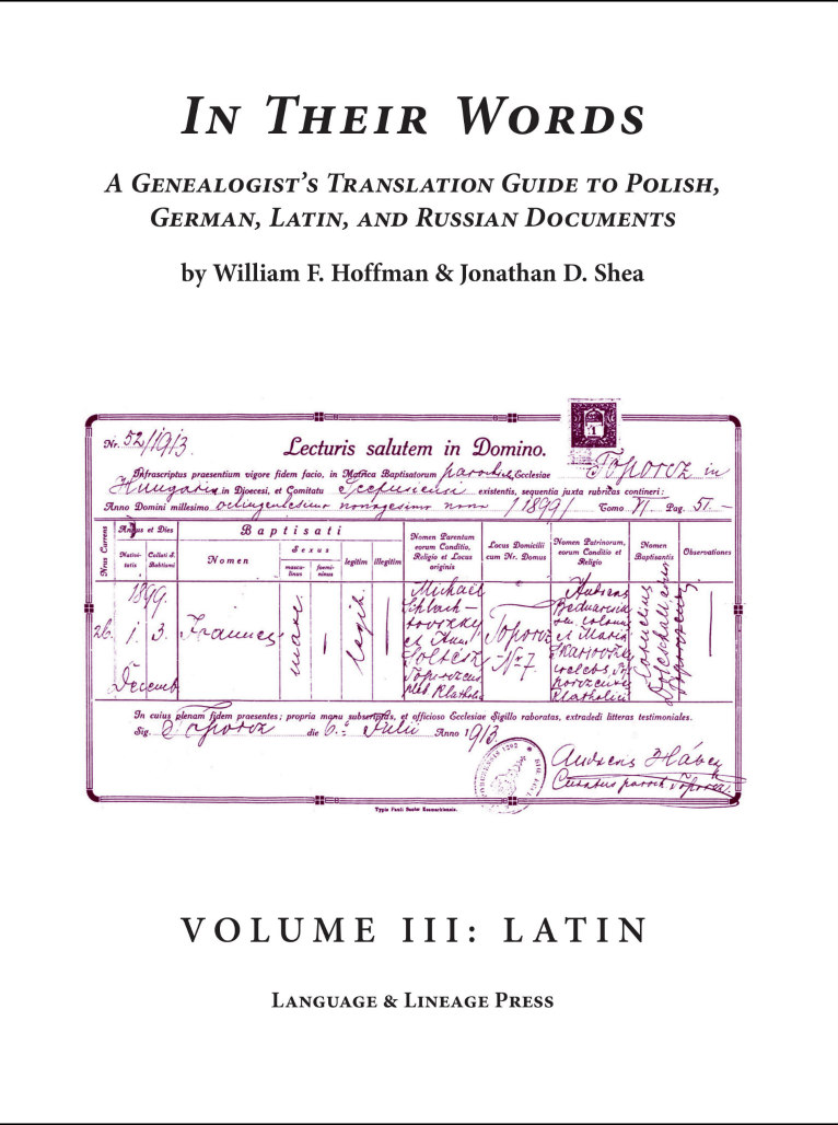 In Their Words Volume III Latin
